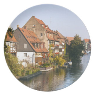 Little Venice (Klein Venedig) and River Regnitz Plate