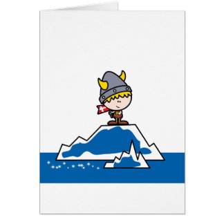 Little Viking Boy Card