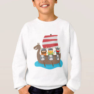 Little Vikings in ship Sweatshirt