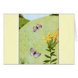 Little Vintage Butterflies Greeting Card