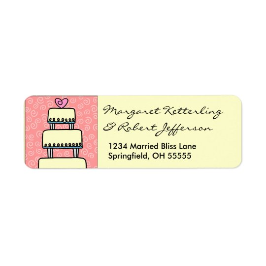 Little Wedding Cake Personalised Address Labels