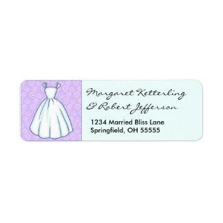 Little Wedding Dress Personalised Address Labels