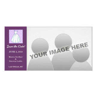 Little Wedding Dress Save the Date Personalized Photo Card