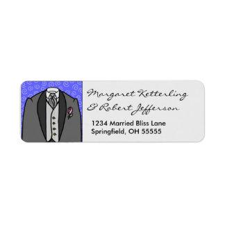 Little Wedding Tuxedo Personalised Address Labels