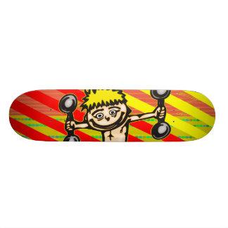 Little Weightlifting Boy Skate Deck