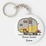 Little Western Camper Trailer HSH Basic Round Button Key Ring