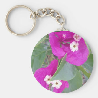 LITTLE WHITE AND PINK FLOWERS KEY RING