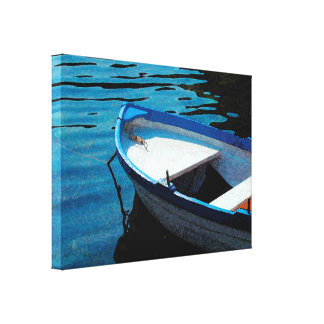 Little White Boat Canvas Print