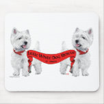 Little White Dog Rescue Mouse Pads