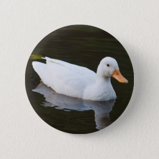 Little White Duck 6 Cm Round Badge