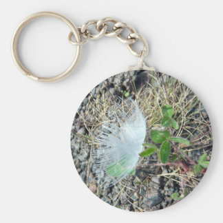 Little White Feather 1 Key Chain