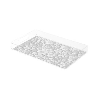 Little White Flowers Acrylic Tray