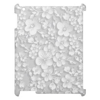Little White Flowers Case For The iPad