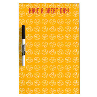 Little White Flowers On Yellow Dry-Erase Board