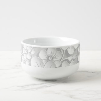 Little White Flowers Soup Mug