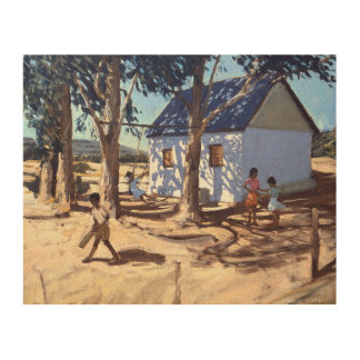 Little white house Karoo South Africa Wood Wall Decor