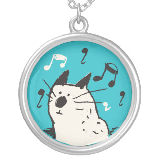 Little White Music Cat Necklace