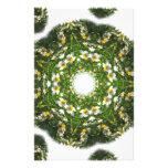 Little White Wildflower Kaleidoscope Art 1