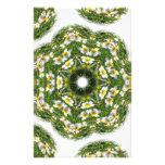 Little White Wildflower Kaleidoscope Art 2