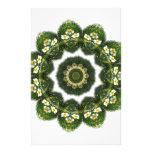 Little White Wildflower Kaleidoscope Art 4
