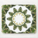 Little White Wildflower Kaleidoscope Art 5 Mousemat
