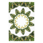 Little White Wildflower Kaleidoscope Art 5 Customised Stationery