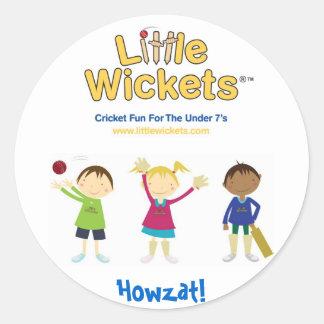 Little Wickets Howzat Classic Round Sticker