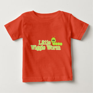 Little Wiggle Worm Bright Spring Green Inchworm Baby T-Shirt