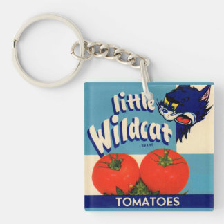 Little Wildcat tomatoes crate label Single-Sided Square Acrylic Key Ring