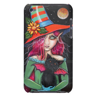 Little Wings Witch and Winged Cat Halloween Art Case-Mate iPod Touch Case