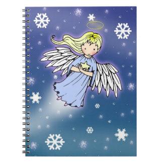 Little Winter Angel in Snow Notebook