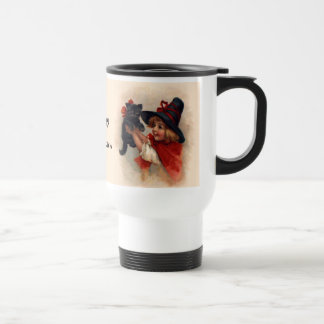 Little Witch Girl Stainless Steel Travel Mug