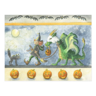 Little Witch's Ghost Dragon (postcard) Postcard