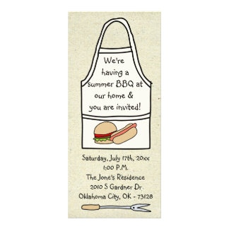little wobblies barbecue invitations rack card template