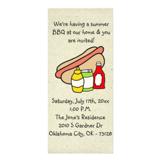 little wobblies barbecue invitations rack cards