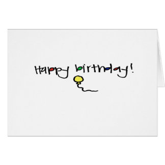 little wobblies hapy birthday stationery note card