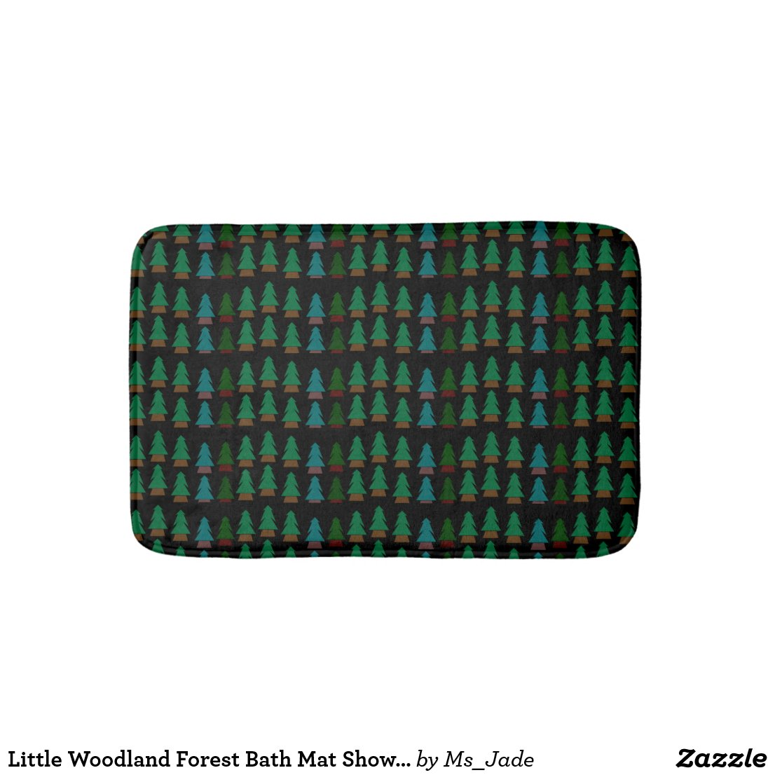 Little Woodland Forest Bath Mat Shower Mat