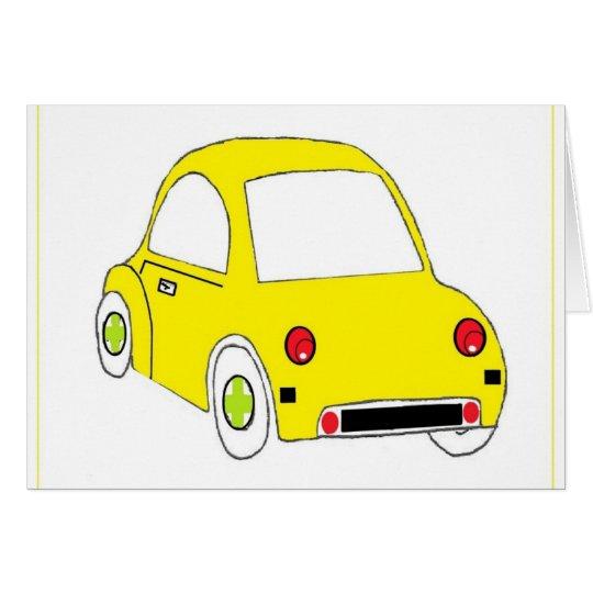 Little Yellow car Card