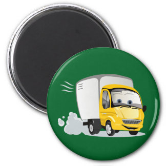 Little Yellow Cartoon Truck for Kids! 6 Cm Round Magnet