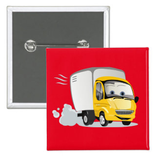 Little Yellow Cartoon Truck for Kids! 15 Cm Square Badge