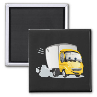 Little Yellow Cartoon Truck for Kids! Refrigerator Magnets