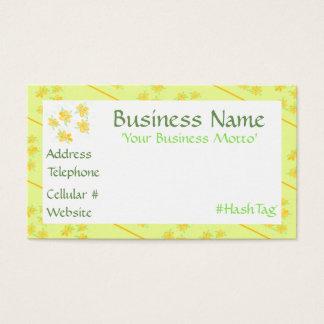 Little Yellow Flowered Business Card