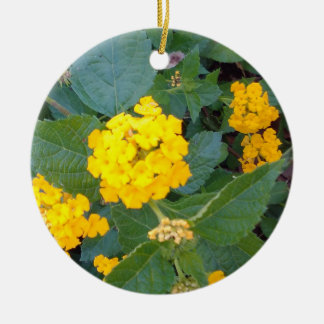 LITTLE YELLOW FLOWERS CHRISTMAS ORNAMENT