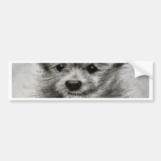 Little Yorkie Boy Bumper Sticker