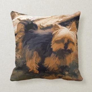 Little Yorkie   - Yorkshire Terrier Dog Throw Pillow
