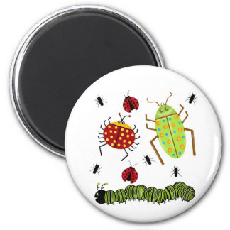 Littlebeane Bugs Insects  Ladybug Ant Caterpillar 6 Cm Round Magnet
