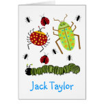 Littlebeane Bugs Insects  Ladybug Ant Caterpillar Note Card