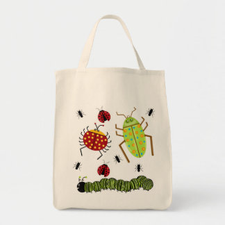 Littlebeane Bugs Insects  Ladybug Ant Caterpillar Tote Bag