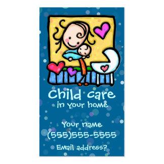 LIttleGirlie Babysitter Child Care Custom card BLU Pack Of Standard Business Cards