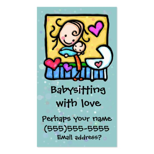 babysitting business cards templates
